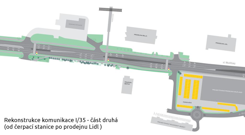 Rekonstrukce komunikace I35 - druha cast